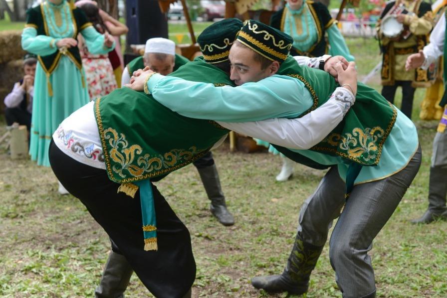 Татарская борьба на поясах Корэш