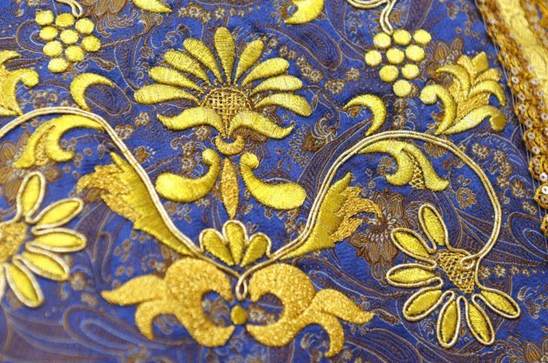 Татарская вышивка золотом
