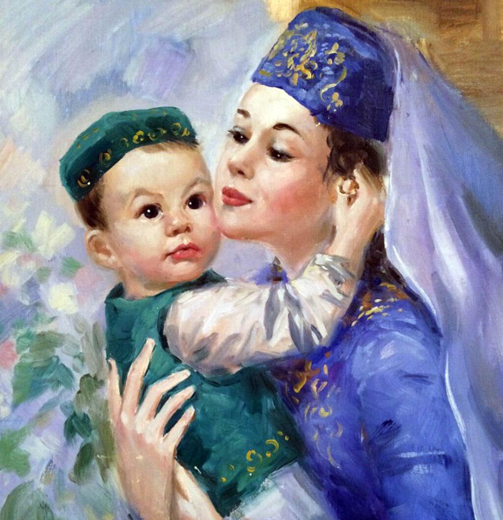 Татарская женщина с ребенком