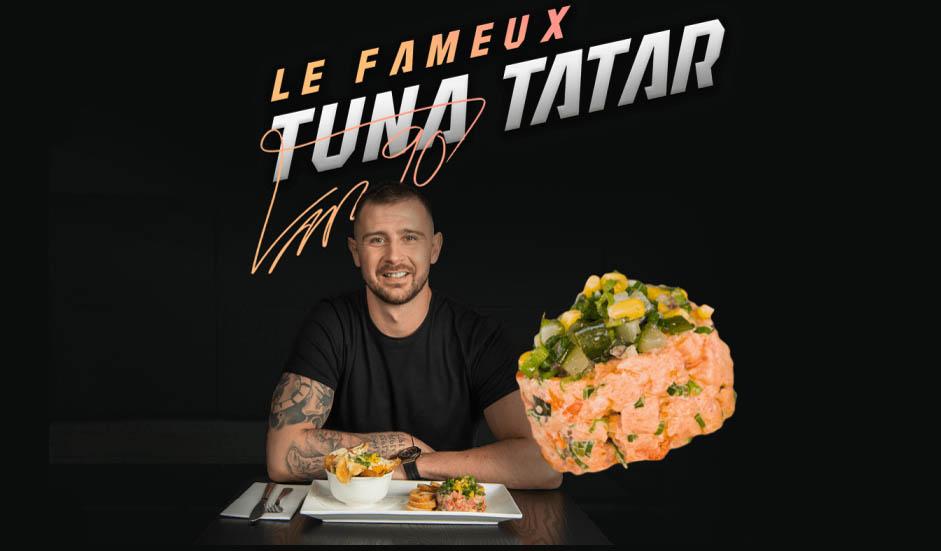 Томаш Татар и блюдо Тунец Татар